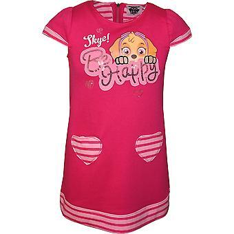 Meninas RH1118 pata patrulha vestido de manga curta tamanho 3-6 anos