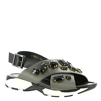 All Black Womens ROYAL CROSS Open Toe Casual Slingback Sandals