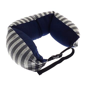 Globetrek International Stripe Neck Pillow, Grey