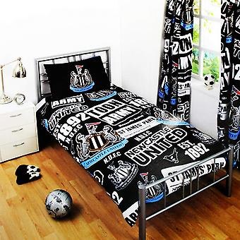 Newcastle United FC Patch Single Duvet Cover And Pillow Case
