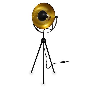 Üç betable masa lambası Küçük Alona siyah + altın 76cm 10839