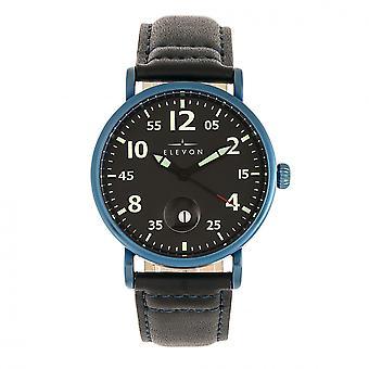 Elevon von Braun kožená kapela hodinky w/Date-modrá/čierna