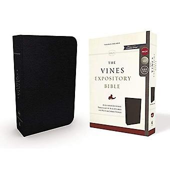 LSG, les vignes Expository Bible, cuir, noir, Red Letter Edition: A guidé le voyage à travers les écritures avec le pasteur Jerry Vines