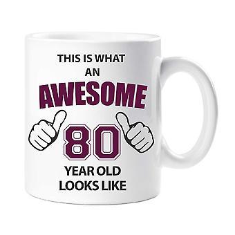 Awesome 80 Year Old Mug