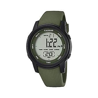 Calypso K5698/4-Unisex relógio de pulso, plástico, cor: verde
