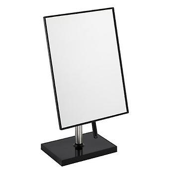 Free Standing Bathroom or Dressing Table Mirror 22cm x 16cm Black