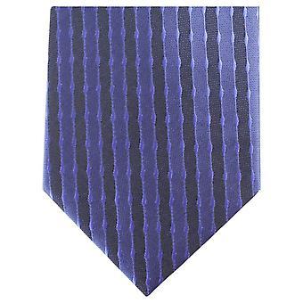 Knightsbridge gravata listrada Regular gravata poliéster - Marinha