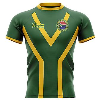2019-2020 South Africa Springboks Flag Concept Rugby Shirt - Kids (Long Sleeve)