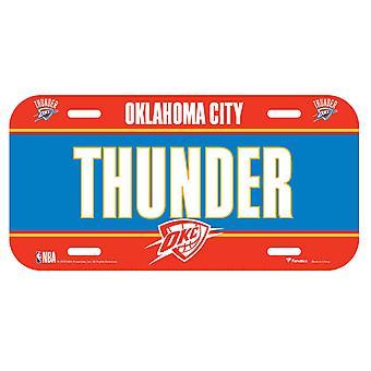 Fanatics NBA license plate - Oklahoma City Thunder