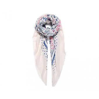 Intrigue Womens/Ladies Large Quote Print Square Scarf