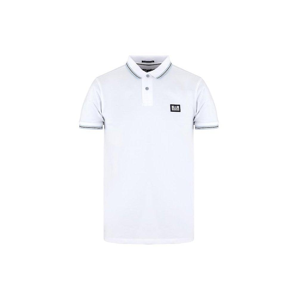 WEEKEND OFFENDER Gallo White Polo Shirt