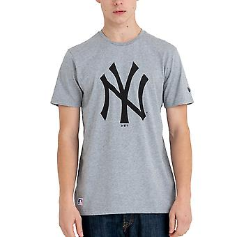 New Era Basic Shirt-MLB New York Yankees Grey