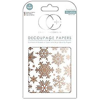 Craft Consortium Glistening Snow Decoupage Papers (CCXDECP059)