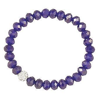 Eeuwige collectie majestueuze Royal Blue Crystal Stretch kralen armband