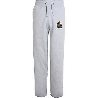 Inteligência corpo-licenciado British Army bordados abertos hem Sweatpants/jogging Bottoms