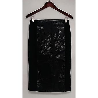 G.I.L.I. kreeg het love it rok gedrukte faux leder potlood zwart A280971