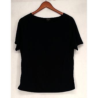 Iman T-Shirt Top Slip Into Slim Basic Tee Indigo Blue Womens 460-386