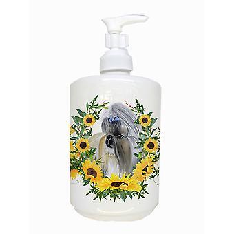 Carolines Treasures  CK2858SOAP Shih Tzu Ceramic Soap Dispenser