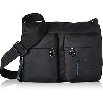 Mandarin Duck Md20 Black Women's Strap Bag (Black) 8.5x20x29 Centimeters (B x H x T)