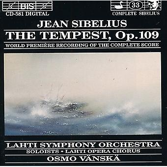 J. Sibelius - Sibelius: La tempestad, importación USA Op. 109 [CD]