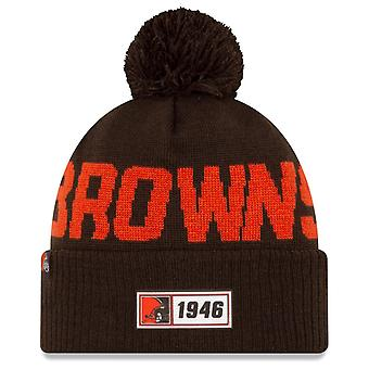 New Era Sideline Road 2019 Bommel Hat Cleveland Browns