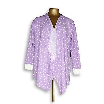 Carole Hochman Women's Petite Fleece Robe Purple A294068