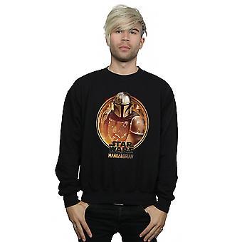 Star Wars Men's The Mandalorian Framed Sweatshirt