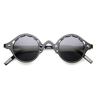 Full Metal moda niepowtarzalny Steampunk Retro okrągłe okulary przeciwsłoneczne