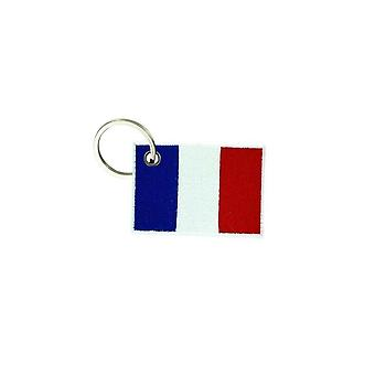 Cle Cles Clef Brode Patch Ecusson Francais Francais 7X5Cm Tricolore
