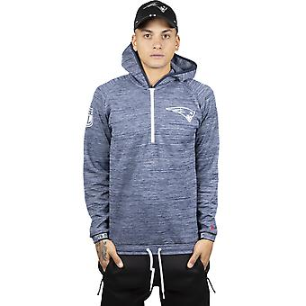 New Era NFL Engineered Half Zip New England Patriots Bluza z kapturem w Oceanside Blue