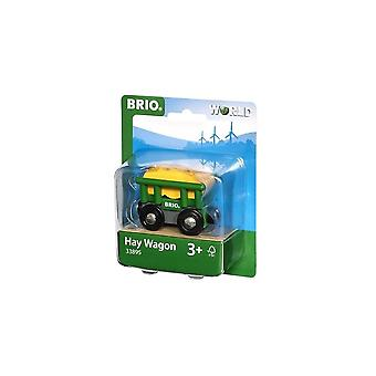 Brio 33895 Wooden Railway Hay Wagon - Farm