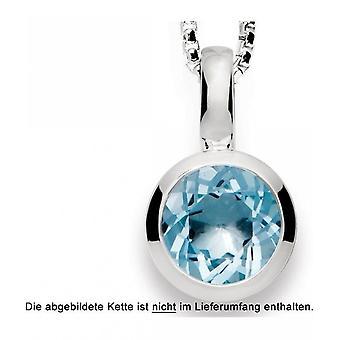 bastian inverun - silver pendant with blue topas - 21190