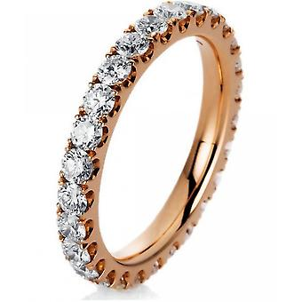 Diamond ring - 18K 750/- red gold - 1.51 ct. Size 54
