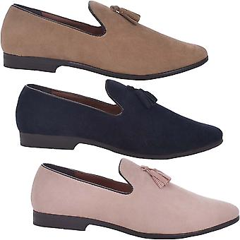 Brave Soul Mens Bexhill Smart Casual Slip On Tassled Loafer Shoes