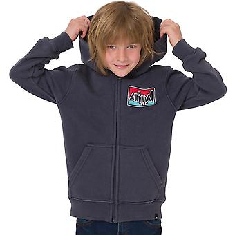 Animal Boys Kids Worn Long Sleeve Full Zip Hooded Sweatshirt Hoodie Top - Indigo