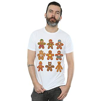 Marvel Men's Avengers Christmas Gingerbread Camiseta