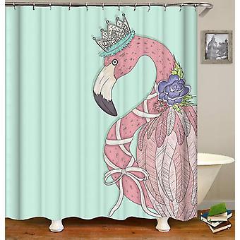 Queen Flamingo Shower Curtain