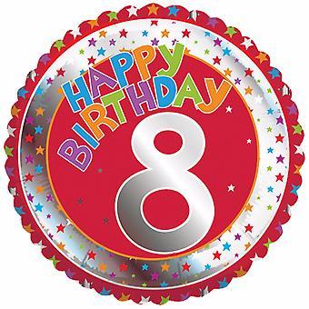 Creative Party Happy 8th Birthday Milestone Balloon