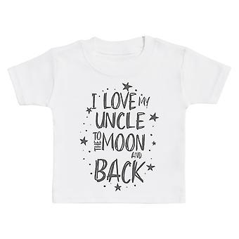 Ik hou van mijn oom naar de maan en terug Baby T-shirt
