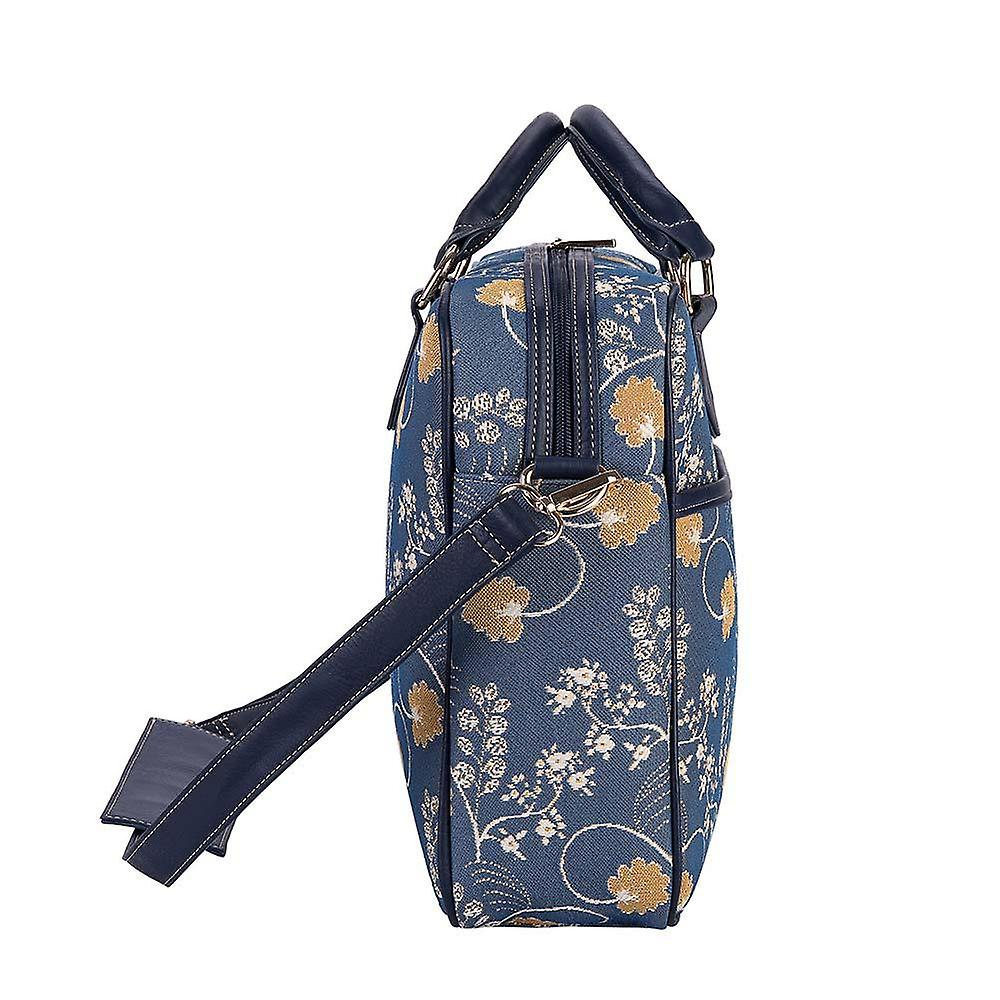 Jane austen blue computer bag by signare tapestry / 15.6 inch / cpu-aust