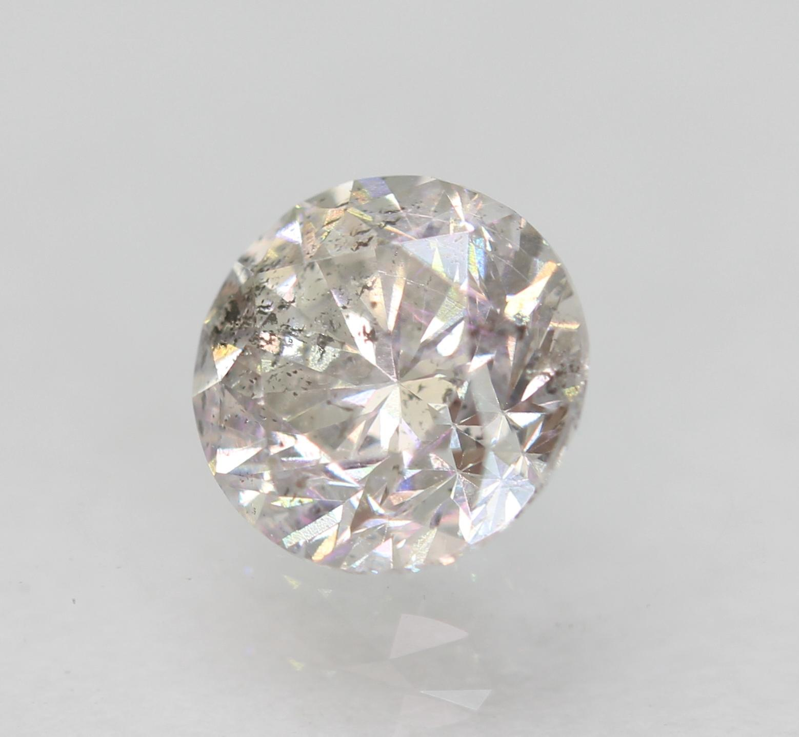 Certified 0.55 Carat G SI2 Round Brilliant Enhanced Natural Loose Diamond 5.1mm