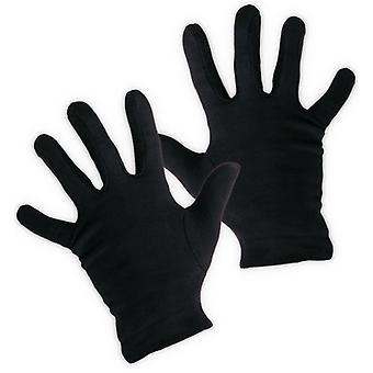 Handschuhe schwarz Accessoire Clown Pantomime Verbrecher