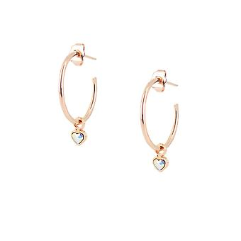Earrings The InterchangeableS A59260 - Creoles Coeur Dor Rose