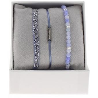 Scatola A48538 intercambiabili - linea di Box Mini piastra Palladium ornamenti strass / cristallo donna