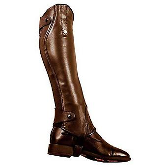 Mark Todd Adults Standard Ergo Leather Half Chaps