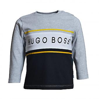 Hugo Boss Boys Hugo Boss Infant Boy's grau/schwarz Langarm T-Shirt