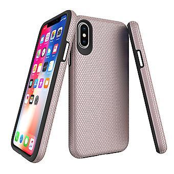 iPhone XS&Xケース用, アーマーローズゴールドスリム耐震保護電話カバー