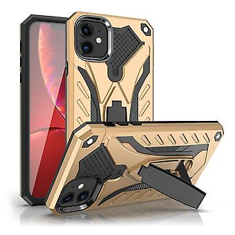 For iPhone 11 Case, Armour Strong Shockproof Cover Kickstand, Gold