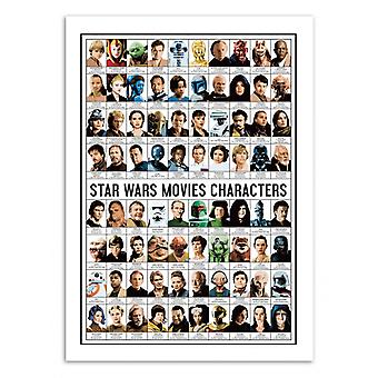 Art-Poster - Star Wars Movies Characters - Olivier Bourdereau
