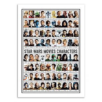 Pôster de Arte - Personagens de Filmes de Star Wars - Olivier Bourdereau